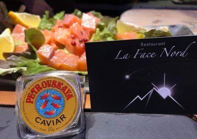 Caviar à La Face Nord Restaurant La Plagne