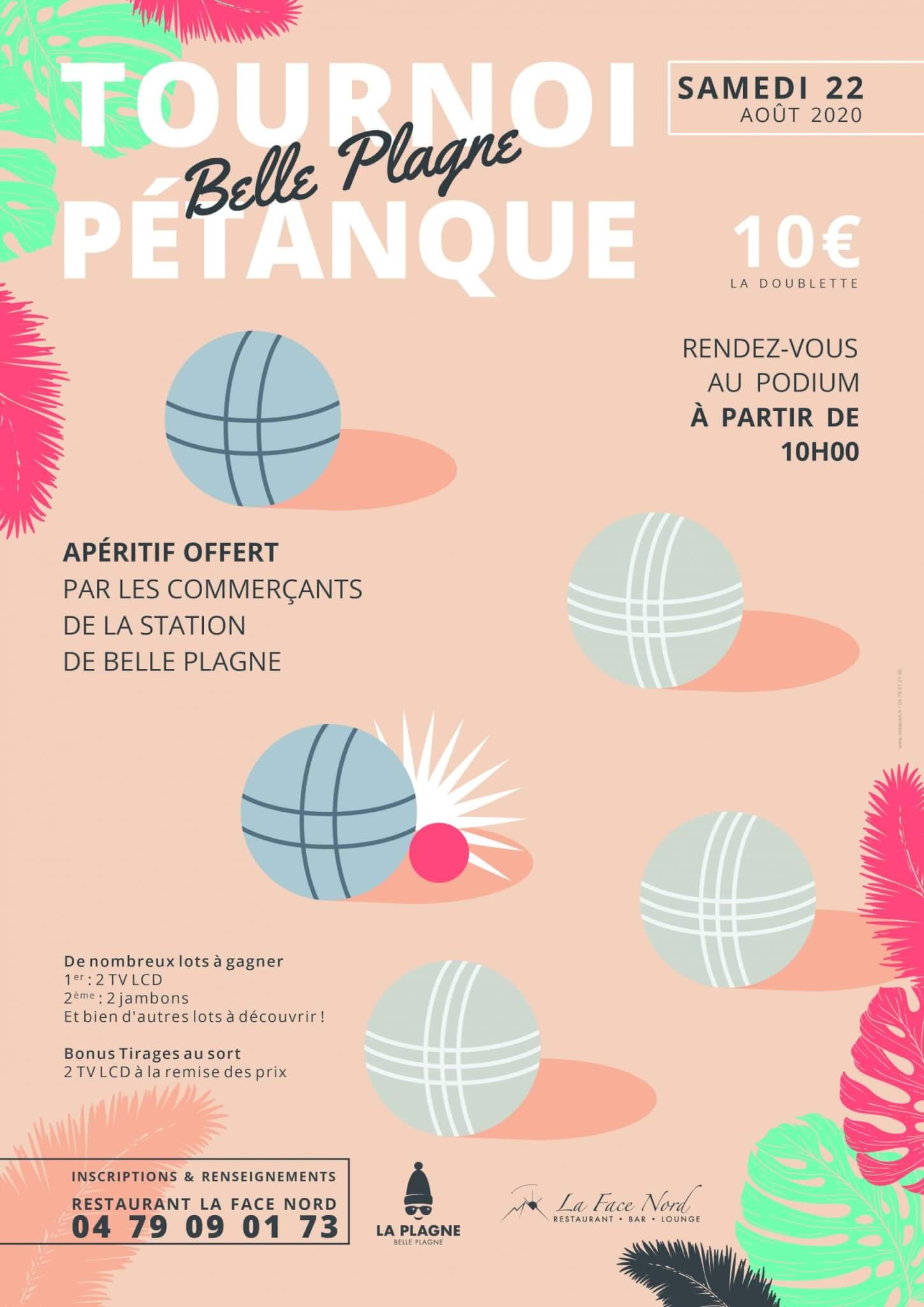 Tournois de Pétanque à Belle Plagne samedi 22 août !
